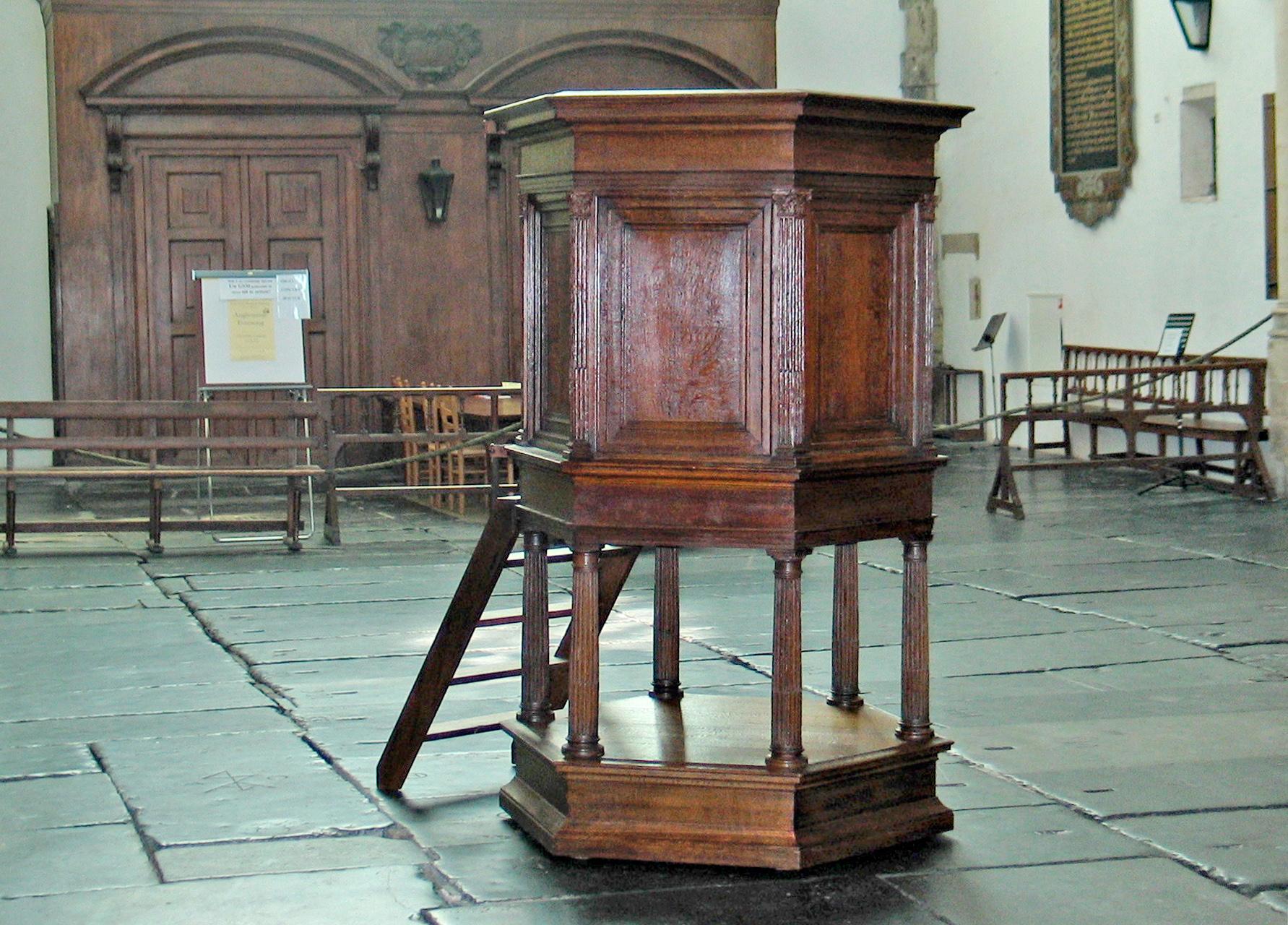 Bavokerk Haarlem, hout, restauratie, conservering, houtwerk, meubelrestauratie, restaureren, preekstoel, haarlem amsterdam