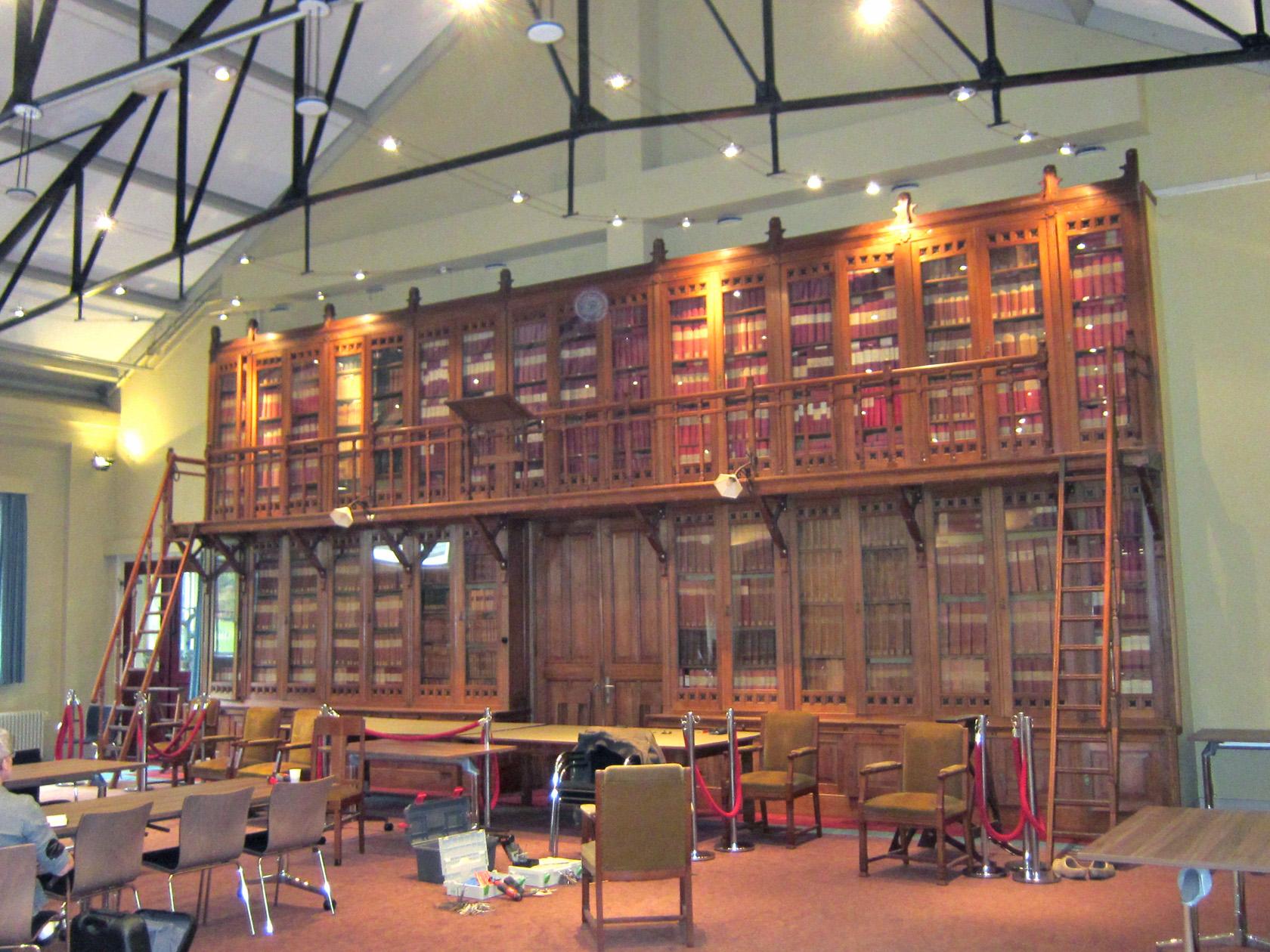 bibliotheekkast, asr verzekeringen, centraal museum utrecht, demonteren en verplaatsen, hout